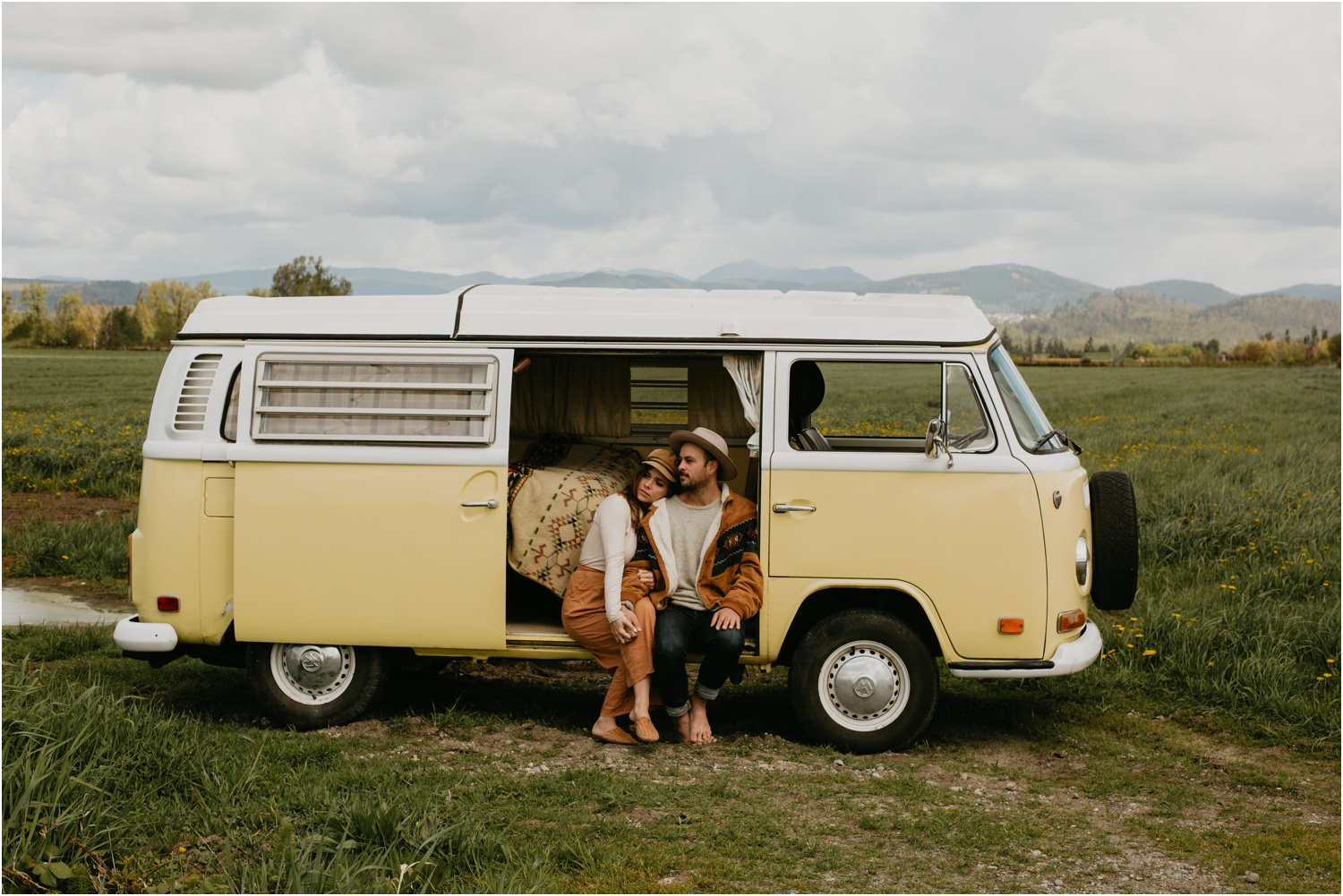 Courtney Jess Photography,East Kootenay Photographer,Fernie Photographer,Fernie Wedding Photographer,Kimberley BC Photographer,Kimberley BC Weddings,Vanagon couple photos,Volkswagon Van,boho couples.,vanagon,